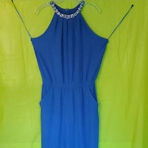Blue Party Jumpsuit by XOXO Brand new with tags